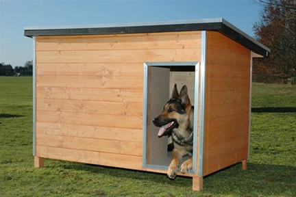 CRUFTS LUXURY HEAVY DUTY INSULATED TANALISED WOODEN DOG KENNEL